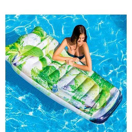 Пляжний надувний матрац - пліт 58778SH INTEX Мохіто 178-91 см, фото 2
