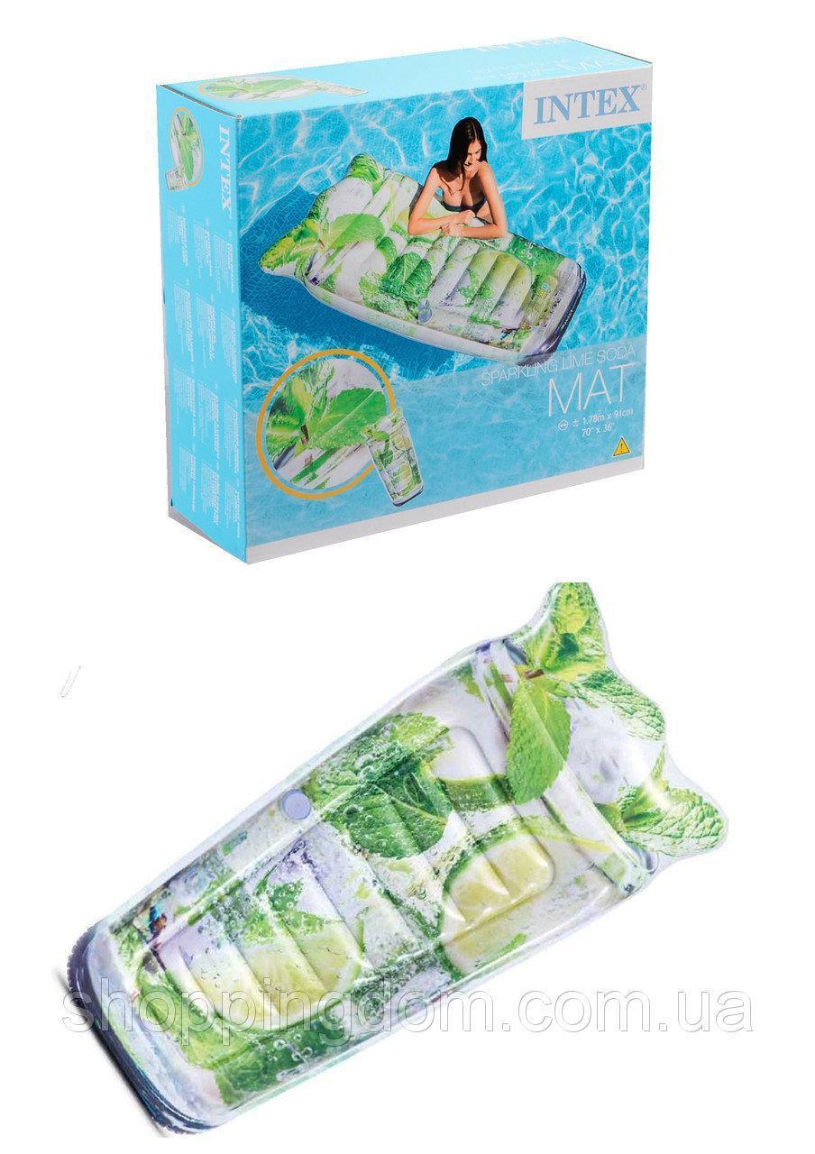 Пляжний надувний матрац - пліт 58778SH INTEX Мохіто 178-91 см