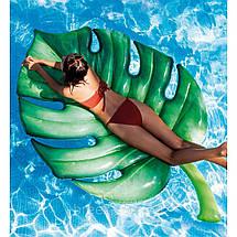 Пляжный надувной матрас - плот 58782SH INTEX Пальмовый лист 213-142 см, фото 2