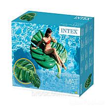 Пляжный надувной матрас - плот 58782SH INTEX Пальмовый лист 213-142 см, фото 3