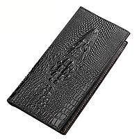 Мужской кошелек портмоне - клатч ALLIGATOR bag ZQ850 | Черный