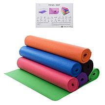 Классический многофункциональный коврик для йоги MS 1846-1 | Оранжевый, фото 2