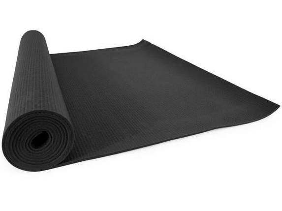 Классический многофункциональный коврик для йоги MS 1846-1   Черный, фото 2