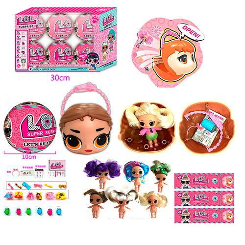 Кукла Лол шар 33313 | L.O.L. Surprise | Куколка LOL голова в шаре