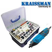 Гравер с гибким валом и набором насадок Kraissmann 180 SGW218