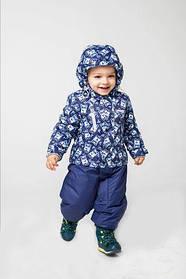 Термо-комбінезон для хлопчиків Зима панда синій поліестер Baby Line Україна