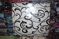Комплект двуспального постельного белья жатка Тирасполь черно-белое