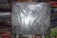 Комплект двуспального постельного белья жатка Тирасполь темно-серое