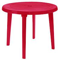 Стол пластиковый круглый 90 см вишневый N11015019