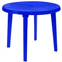 Стол пластиковый круглый 90 см синий N11015017