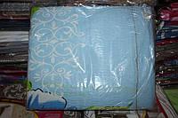 Комплект двуспального постельного белья жатка Тирасполь голубое