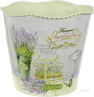 Вазон декоративный Lavender цилиндр металический 15х13,5 см T51112297