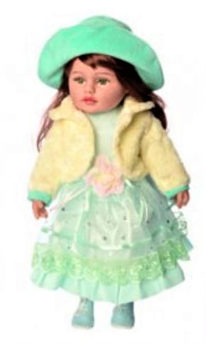 """Кукла мягконабивная M 3863 UA """"Панночка"""" в зеленом платье"""