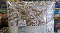 Комплект семейного постельного белья жатка Тирасполь бежево-молочное