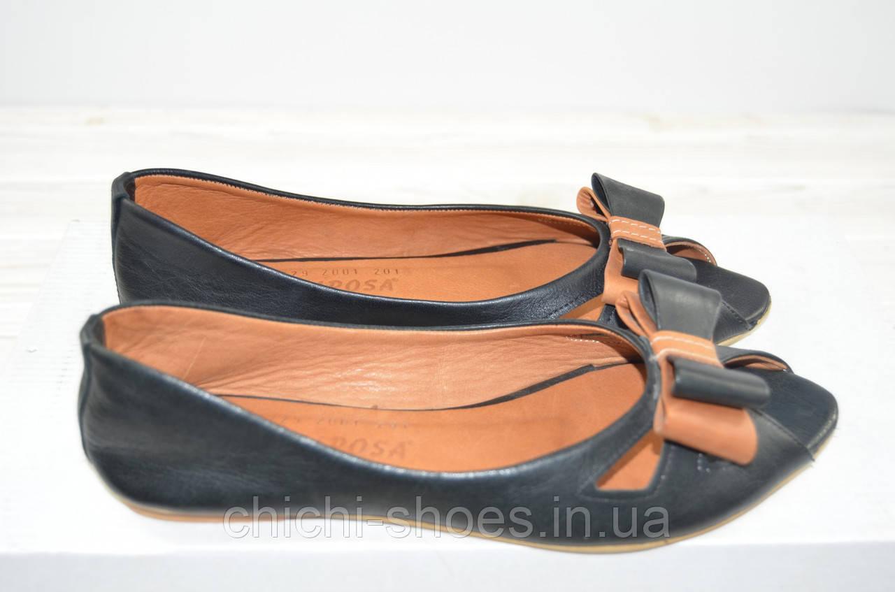 Балетки женские Mariposa 229-2001-201 чёрные кожа