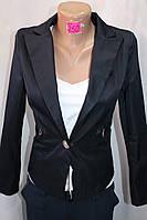 Пиджак  женский  классический длинный рукав черный