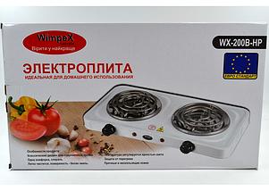 Электроплита настольная WimpeX WX-200B   Двухконфорочная спиральная плита, фото 3