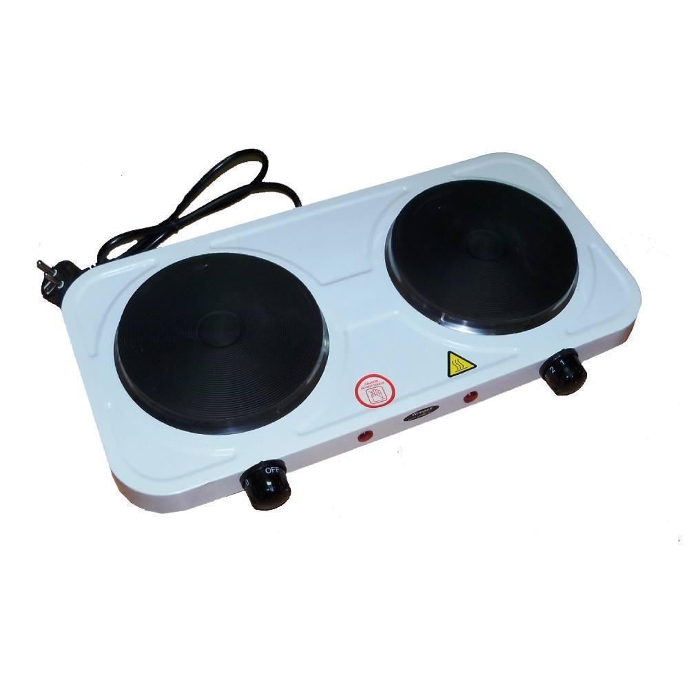 Электроплита настольная WimpeX WX-200А | Двухконфорочная дисковая плита