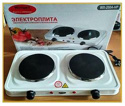 Электроплита настольная WimpeX WX-200А | Двухконфорочная дисковая плита, фото 3