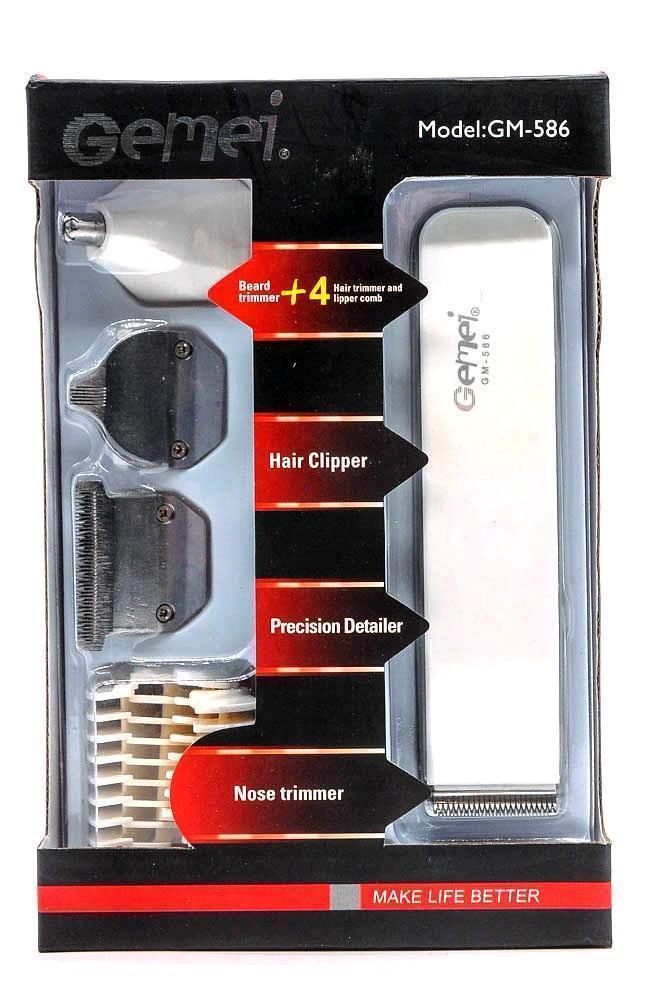 Триммер для стрижки волос Gemei GM-586 4 в 1 | Профессиональная машинка для стрижки волос