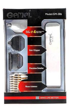 Триммер для стрижки волос Gemei GM-586 4 в 1 | Профессиональная машинка для стрижки волос, фото 2