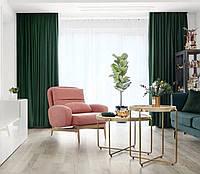 Ткань для штор блэкаут СОФТ зеленый  (двухсторонняя), фото 1
