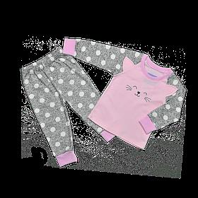 Пижама для девочки Dexters Счастливый кот 36 Серо-розовый d906, КОД: 1054317