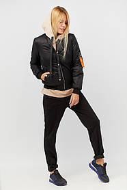 Куртка бомбер BANG VIBE S Black MC-313, КОД: 716821