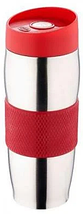 Термокружка металлическая с поилкой Benson BN-40 380 мл | Фиолетовая, фото 3