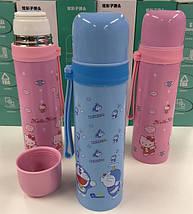 Вакуумний дитячий термос з нержавіючої сталі Benson BN-54 500 мл | Рожевий, фото 3