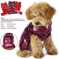 """Комбинезон зимний """"ГЛАМУР"""" для собак, фиолетовый, размер S"""