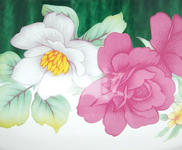 Эмалированная кастрюля с крышкой Benson BN-115 5.9 л   Белая с цветочным декором, фото 3