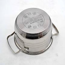 Набір каструль з нержавіючої сталі 8 предметів Benson BN-202 2,1 л, 2,9 л, 3,9 л, 6,5 л, фото 3