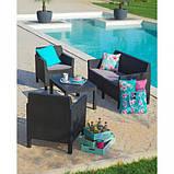 Набор садовой мебели Orlando Set With Large Table из искусственного ротанга ( Allibert by Keter ), фото 6