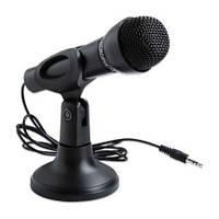 """Микрофон на подставке MC-302, mini jack 3.5"""", настольный для компьютера и ноутбука"""