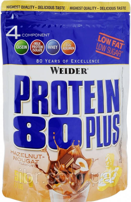 Протеин комплексный WEIDER Protein 80+ 500 g Hazelnut-Nougat