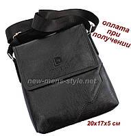 Мужская фирменная чоловіча кожаная сумка борсетка барсетка через плечо Diweilu
