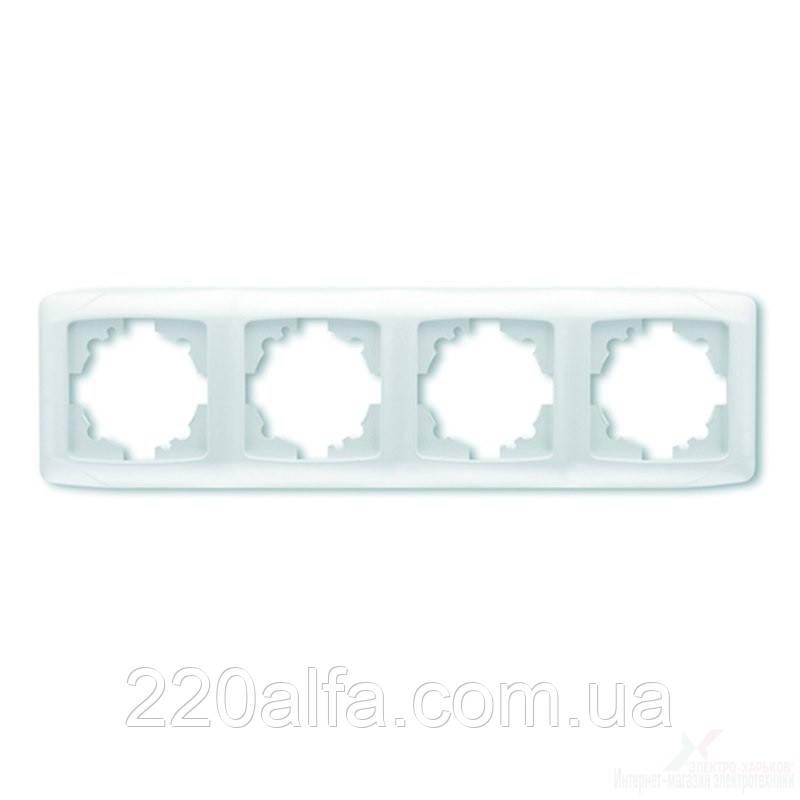 VIKO CARMEN  Рамка 4-я горизонтальная белый/крем