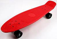 """Пенниборд Nickel 27"""" Red Черные колеса"""