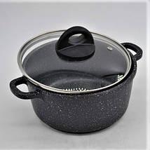 Набор посуды Benson BN-312 мраморное покрытие | 6 предметов, фото 3