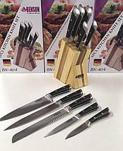 Набор ножей из нержавеющей стали на подставке Benson BN-404 | 6 предметов | Ножи Германия, фото 2