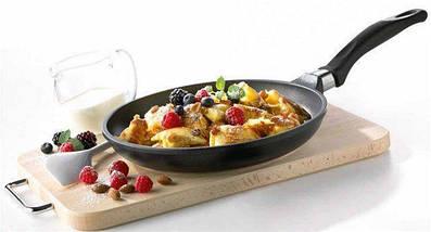 Сковорода с антипригарным мраморным покрытием с крышкой Benson BN-504 28*5,5 см, фото 3