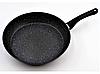 Сковорода с антипригарным мраморным покрытием с крышкой Benson BN-504 28*5,5 см, фото 5