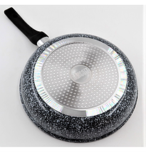 Сковорода з антипригарним гранітним покриттям Benson BN-510 22*5 см   Індукція   Бакелітова ручка, фото 2