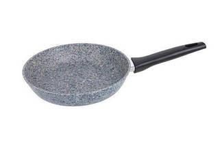 Сковорода з антипригарним гранітним покриттям Benson BN-510 22*5 см   Індукція   Бакелітова ручка, фото 3