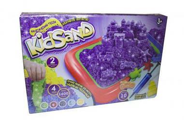 """Детский песок для лепки (кинетический) """"KidSand"""" + песочница (укр)"""