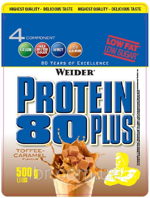 Протеин комплексный WEIDER Protein 80+ 500 g Toffe-Caramel