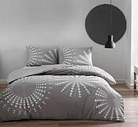 Комплект постельного белья турецкое tac ранфорс/простынь на резинке евро размер Moon gri
