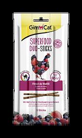 Колбаски для кошек с курицей и лесными ягодами GimCat Superfood Duo-Sticks 3 шт.