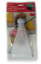Кондитерський мішок з набором насадок для декорування десертів Benson BN-1023, фото 3
